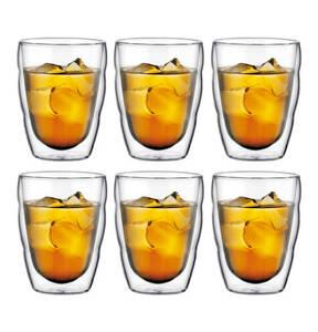 bodum             Glas, doppelwandig, 0,25 l, 6-teilig