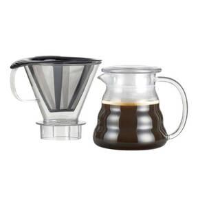 bodum             Kaffeebereiter mit Permanent Edelstahl Kaffeefilter, 2,5 Tassen, 0,6 l