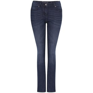 Damen Straight-Jeans mit Used-Waschung