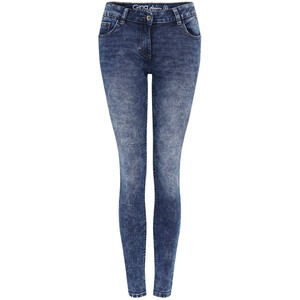 Damen Jeggings in Used-Waschung