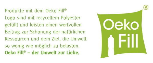 Home Ideas Mikrofaser-Kopfkissen Oeko Fill, 80 x 80 cm