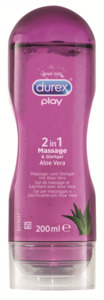 Durex Play 2in1 Massage & Gleitgel Aloe Vera, 200 ml