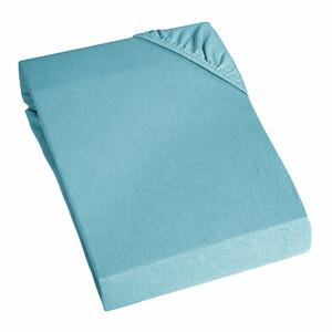 Home Ideas Jersey-Spannbetttuch, blau