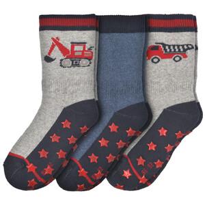 3 Paar Baby Frottee-Socken mit ABS-Sohle