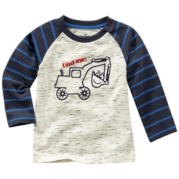 Baby Langarmshirt mit Bagger-Motiv