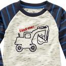 Bild 2 von Baby Langarmshirt mit Bagger-Motiv