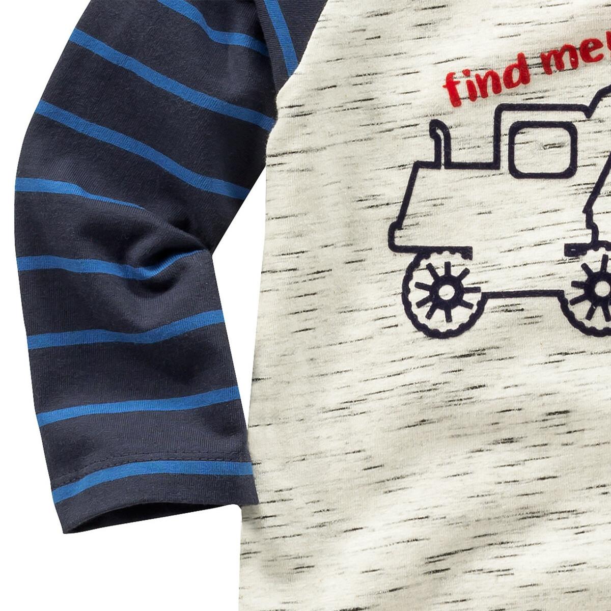 Bild 3 von Baby Langarmshirt mit Bagger-Motiv