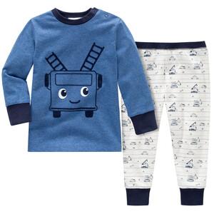 Baby Schlafanzug mit Auto-Motiven