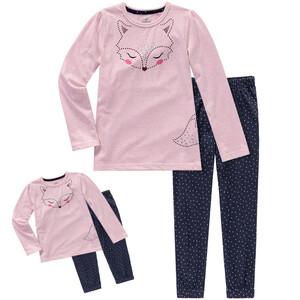 Mädchen Schlafanzug und Puppen-Schlafanzug