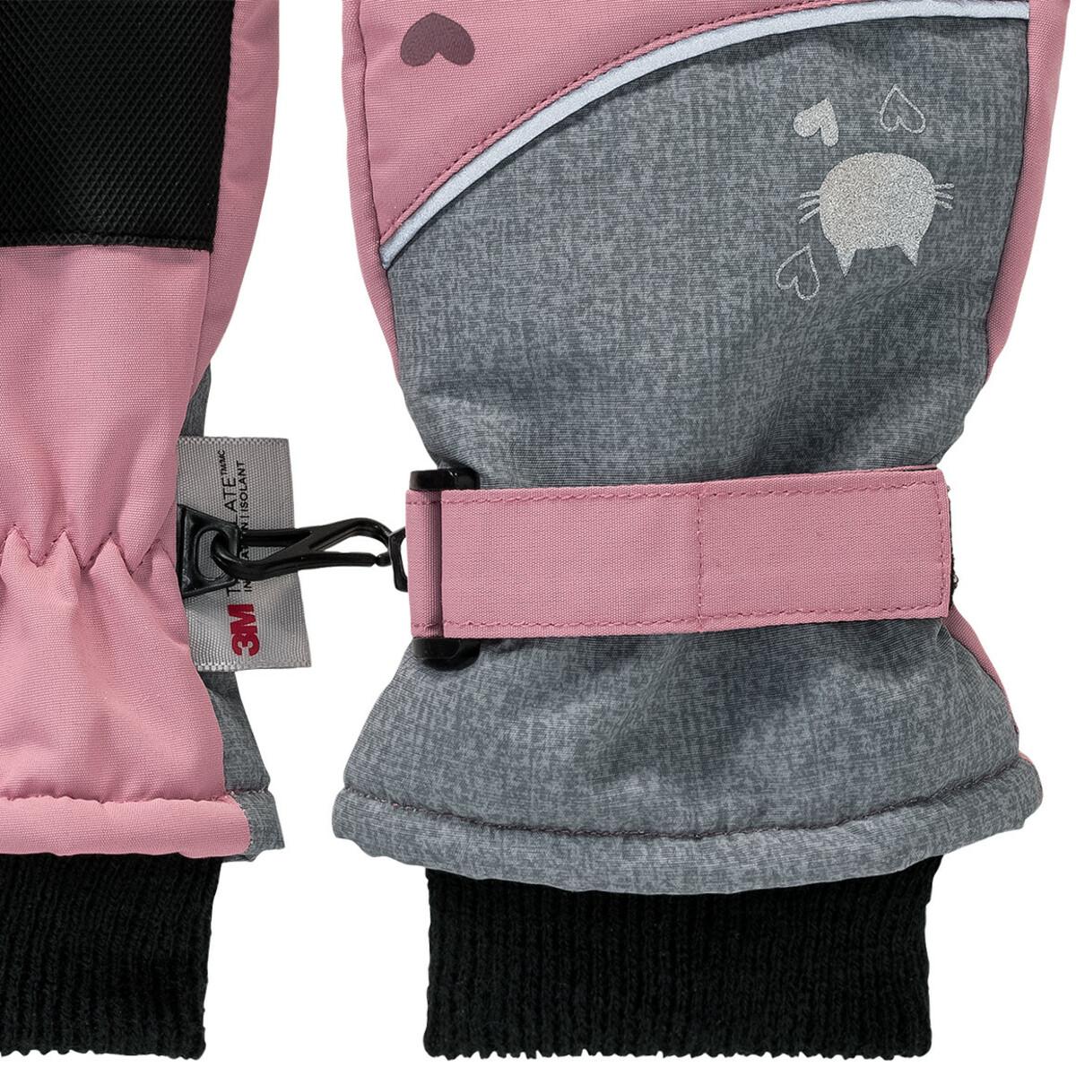 Bild 3 von Mädchen Skihandschuhe mit Verbindungshaken