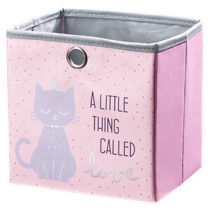 Aufbewahrungskorb mit Katzen-Motiv