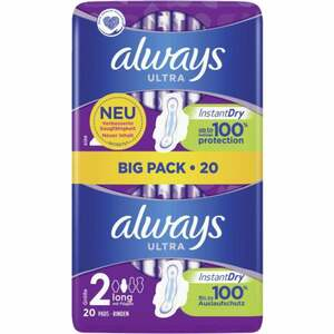Always ultra long Binden mit Flügeln Gr. 2 Big Pack