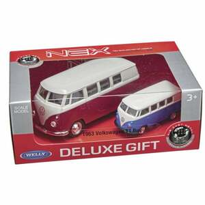 IDEENWELT 2er Set Modellautos 1963 Volkswagen T1 Bus