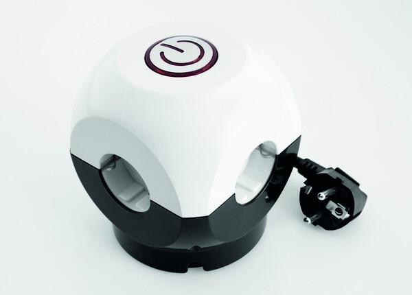 Powertec Electric Clevere 4-fach Steckdose Würfel mit Schalter