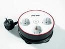 Bild 1 von Powertec Electric Clevere 3-fach Steckdose mit Kabelbefestigungseinrichtung schwarz/weiß