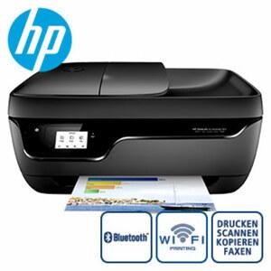 OfficeJet 3835 All-in-One Drucker · 5,5 cm großer Touchscreen · randlose Fotos in Laborqualität · einfaches Drucken von mobilen Geräten