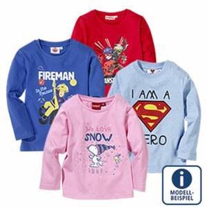Baby- oder Kinder-Lizenz-Langarmshirt Größe: 68 - 164, je