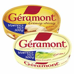 Géramont Vorteilspack   Französischer Weichkäse, 60 % Fett i.Tr., versch. Sorten, jede 300-g-Packung