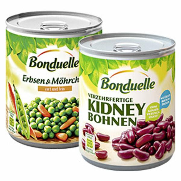 Bonduelle Gemüsekonserven versch. Sorten, jede 850-ml-Dose/500/530 g Abtropfgewicht