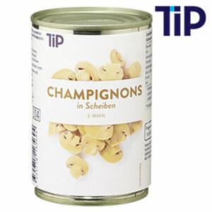 Champignons III Wahl in Scheiben jede 314-ml-Dose/170 g Abtropfgewicht
