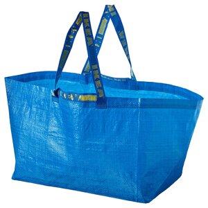 FRAKTA                                Tasche groß, blau, 71 l