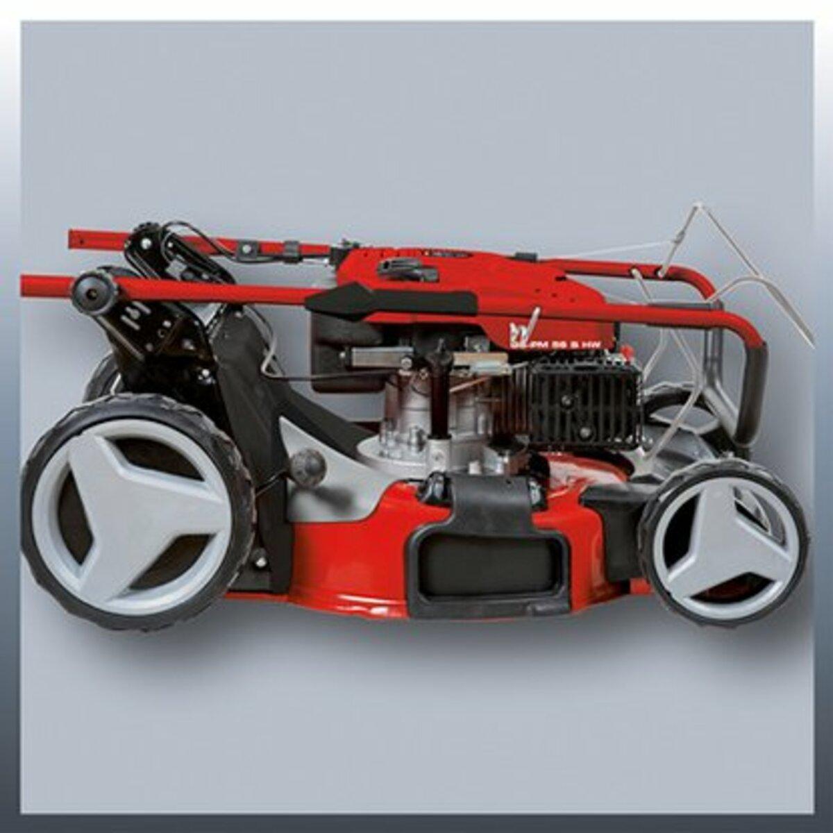 Bild 5 von Einhell Benzin-Rasenmäher GC-PM 56 S HW 50 l Fangsack mit Quick Start 2,8 kW