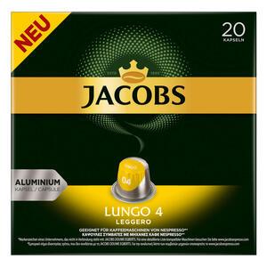 Jacobs Lungo 4 Leggero Kaffeekapseln, Nespresso Kompatibel, Kaffee, 20 Kapseln, á 5.2 g