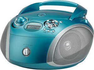 Grundig Radio Stereo CD GBR 2000, Farbe: Aqua/Silver