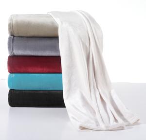 Flanell-Fleece-Wohndecke Velvet 150 x 200 cm, Farbe  Taupe