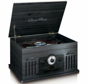 Lenco Plattenspieler TCD2500, Holzgehäuse, USB-Direktaufnahme, Farbe: Schwarz