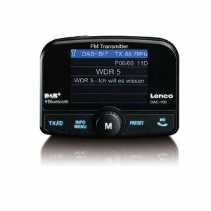 Lenco Digitaler Empfänger 6,1cm (2,4 Zoll) DAC-100, MicroSD, MicroSDXC, TFT, Farbe: Schwarz
