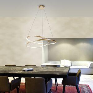 home24 LED-Pendelleuchte Roman Circle