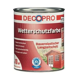 DecoPro Acryl Wetterschutzfarbe seidenglänzend 750 ml braunbeige