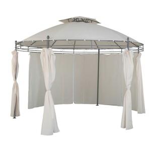 Pavillon rund Ø350 cm beige wasserdicht