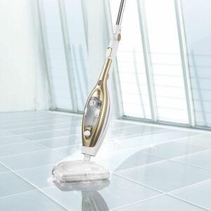 CLEANmaxx Dampfbesen mit Gelenk 1300W gold/weiß