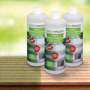EASYmaxx Reinigungsmittel Algen/Flechten/Pilze 3er-Set 1000ml
