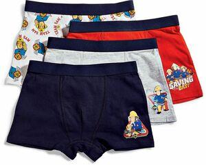 Kinder Boxershorts, 4er Pack - Feuerwehrmann Sam, Gr. 110/116