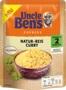Uncle Bens Naturreis Curry 220g