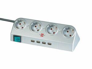 brennenstuhl Desktop-Power mit Schalter und USB-Hub 2.0