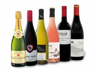 6 x 0,75-l-Flasche Weinpaket Reise durch Frankreich