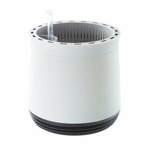 Airy Pot - Luftreiniger Blumentopf für saubere Raumluft - rund - 1600 ml - 27 cm hoch - weiß/grau