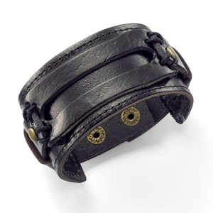 Gipfelzauber Armband Leder mit Mittelteil