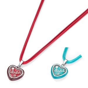 Gipfelzauber Schmuckset Trachtenschmuck-Set Herz mit Spatzlschriftzug, 2 Farbvarianten