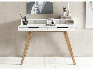 Wohnling Schreibtisch SKANDI 110 cm MDF weiß Arbeitstisch Laptoptisch Bürotisch & Ablage