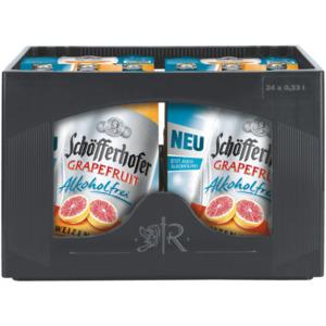 Schöfferhofer Grapefruit Alkoholfrei Hefeweizen 4x6x0,33l