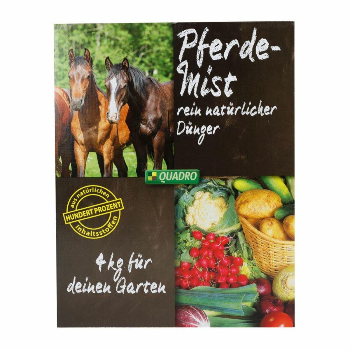 Bild 1 von Quadro Pferdemist Dünger pelletiert 4kg