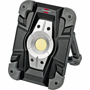 Brennenstuhl              Akku LED Arbeitsstrahler, 10 Watt, IP54, Fluter Tageslicht, schwarz⁄grau