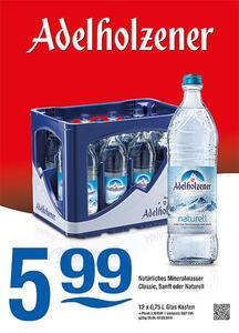 Adelholzener Natürliches Mineralwasser Classic, Sanft oder Naturell