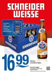 Schneider Weisse Weissbier verschiedene Sorten