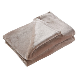 Microfaserdecke Flanell de luxe (140x200, taupe)